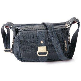 Solid Crocodile Skin Design Zipper Hasp Bags (Blue) TC - Intl--TC
