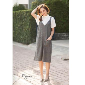 Đầm suông kết hợp áo sơ mi tay ngắn Xavia Clothes Pigeon