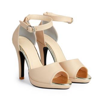 Giày Sandal Nữ Đế Đúp 11 Cm HC1375 (Kem)