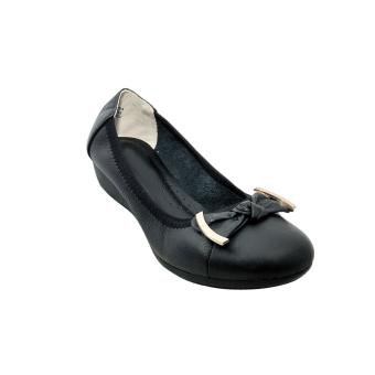 Giày nữ da bò cao cấp màu đen ESW144