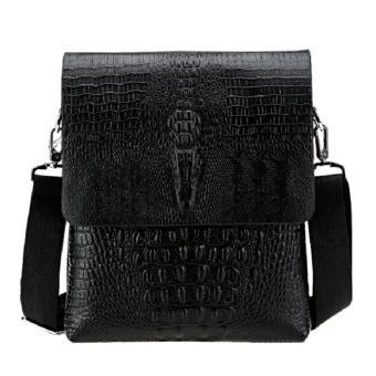 Túi đeo chéo công sở da thật vân cá sấu ( ĐEN )