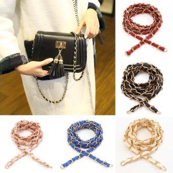 52″ Purse Bag Strap Crossbody Replacement Shoulder Handbag Handle Metal Chain Black - intl