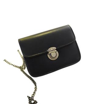 Lovely Girl Pu Leather Mini Small Adjustable Shoulder Bag Handbag Black - Intl
