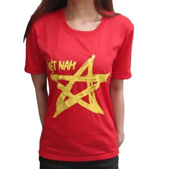 Áo cờ đỏ sao vàng nu Vương Kim Thành ACDSV02NU ( Đỏ )