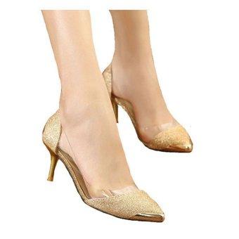 Giày ánh kim sang trọng 90028 (Vàng)