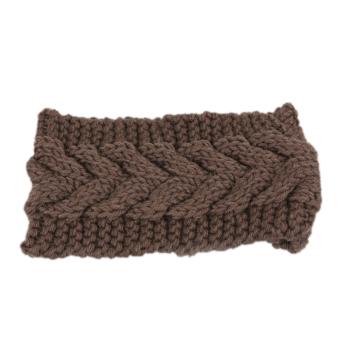 Fancyqube Women Ear Warmer Headwrap Headband Coffee