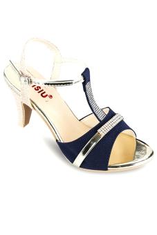 Giày cao gót hở mũi Sarisiu XN560 (Xanh đen)