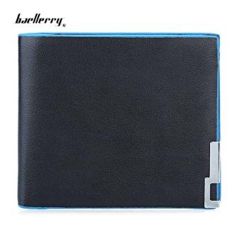Baellerry Pure Color Short Open Cash Photo Card Wallet(Horizontal) - intl