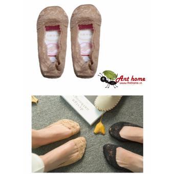 Tất (Vớ) ren dùng cho mùa xuân và mùa hè vải cotton thoáng mát mẫu M6