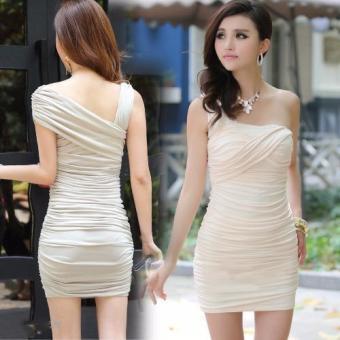 Đầm body lệch vai cực quyến rũ cho nàng thêm đẹp trong đêm tiệc-150_màu kem
