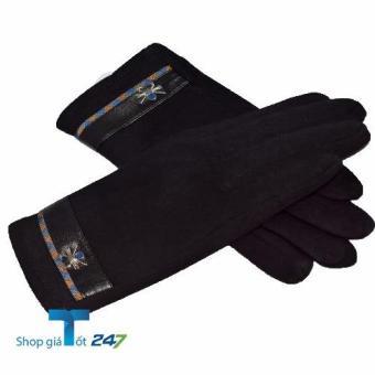 Găng tay giữ nhiệt Heattech cảm ứng (Đen )