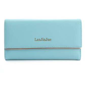 Fashion Lady Women Leather Long Wallet Card Holder Purse Folding Clutch Handbag Green - intl