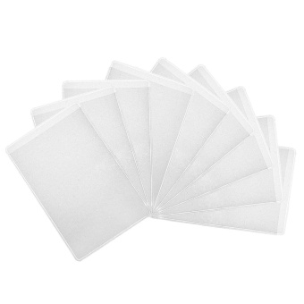 100 PCS Clear Matte Vertical ID Card Badge Holder for Employees Badges Exhibition ID Cards Name Cards Credit Cards - intl