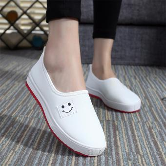 Giày slip on mặt cười (Trắng) 202W