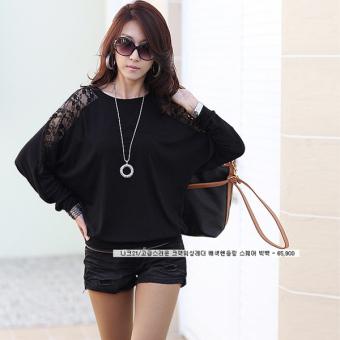 Women's Casual Long Sleeve Lace Tops - intl