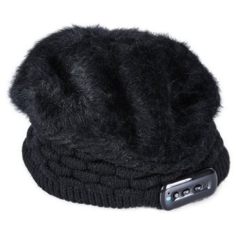 2015 NEW Soft Warm Beanie Bluetooth Music Hat for Women gift(Black) (Intl)