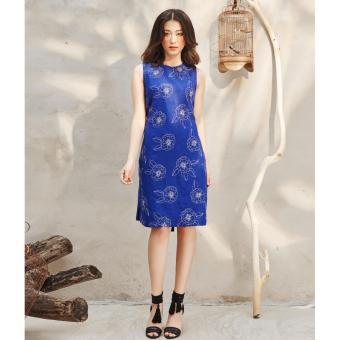 Đầm Linen Suông Nền Hoa Có Dây Thắt Nơ Ad31