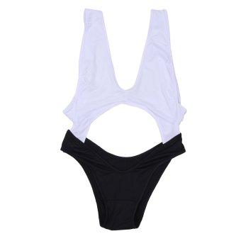 Women Deep V Backless Bathing Suit (Black) - intl