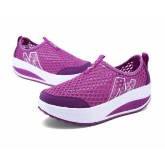 Giày lưới thể thao nữ màu tím 36 -AL