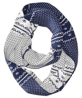 Khăn choàng len nữ Timberland Women's Diagonal Geometric Birds Eye Pattern Knit Infinity Scarf (Mỹ)