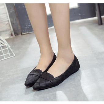 Giày Búp Bê Đế Thấp Da Giả Đan Msp 2810 (Đen)