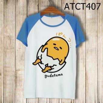 Áo Thun Trứng Lười Gudetama - MITADI - ATCT407 (Xanh Dương)
