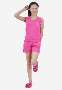 Bộ Đồ Mặc Nhà Nữ Narsis M6025 Màu Hồng Phối Ren