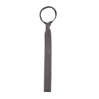 BolehDeals Men's Wool Knitted Flat Woven Tie Necktie (Brown Twill) - intl