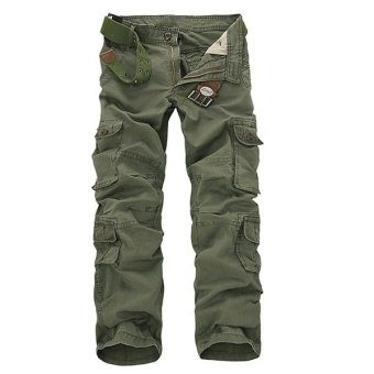 Fashion Men Casual Loose Cargo Camouflage Camo Pants - Intl