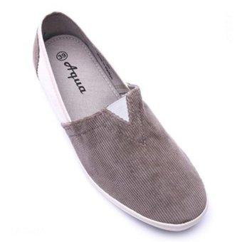 Giày lười nam hiệu Aqua Sportswear L002K (Xám)