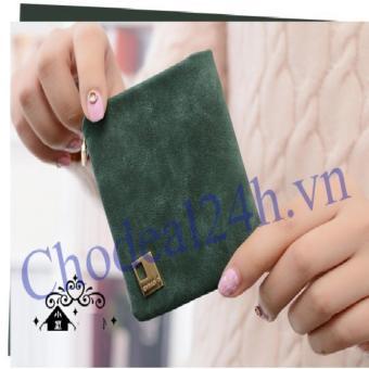 Bóp vuông cầm tay VN02 (xanh rêu)