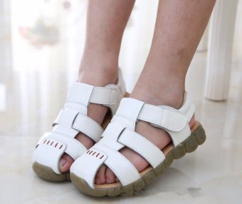 New Boys Soft Leather Sandals Baby Boys Summer Soft Sole Beach Sandals Shoes - intl