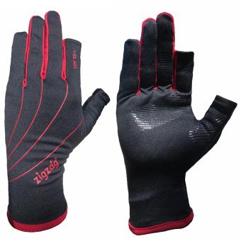 zigzag GLV00801- Găng tay Easy Touch chống nắng UPF50+ (Đen phối đỏ)