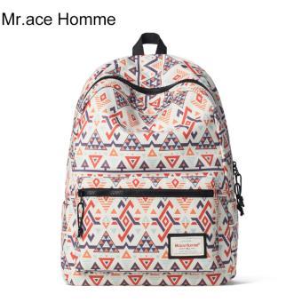 Balo Thời Trang Mr.ace Homme MR16A0204Y01 / Trắng phối họa tiết