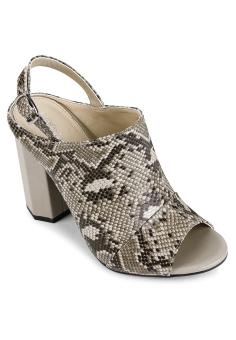 Sandal Bản Boot Gót Lục Giác Rắn