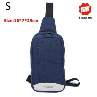 Lan-store Premium Quality Chest Bag-2017 Tigernu Brand Messenger Bags Casual Men's Travel Bags Chest Bag Pack Small Crossbody Men Women Shoulder Bag (Blue) - intl