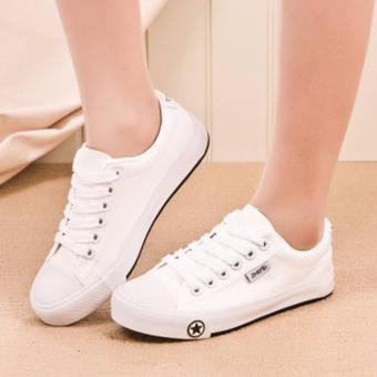 Giày thể thao đế cao su ngôi sao màu trắng TT130