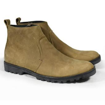 Giày boot nam zip kéo đế thô màu rêu lợt da sáp Tathanium Footwear (Rêu lợt)