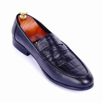 Giày tây nam da thật cao cấp Da Giày Việt Nam - VNLMT20VCT7D (Đen)