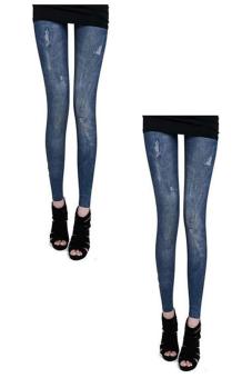 Bộ 2 quần legging Huy Kiệt HK95 (Xanh Đen)