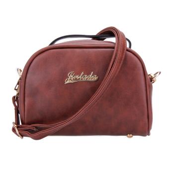 2016 Fashion Women New PU Leather Handbag Tote Shoulder Bag Crossbody Bag(Brown) - intl