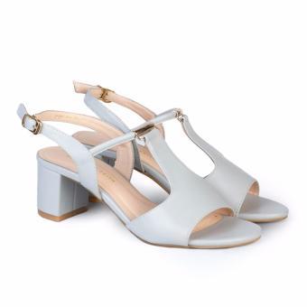 Giày Sandal nữ gót vuông cao 5cm HC1306 (Xanh)