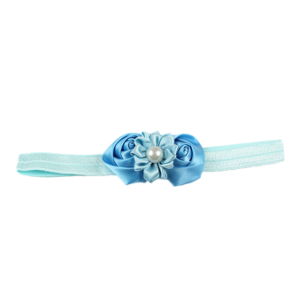 Fancyqube Children's Hairband Hair Ornaments Rosebuds Plus Pearl 10