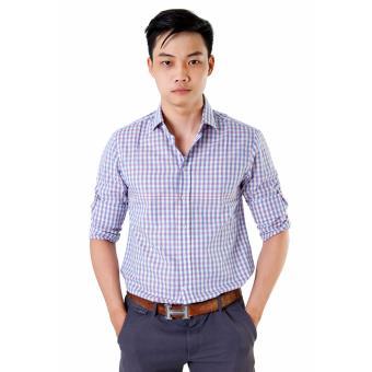 Áo Sơ Mi Nam Big Size Sọc Đứng Tím Xinh Store