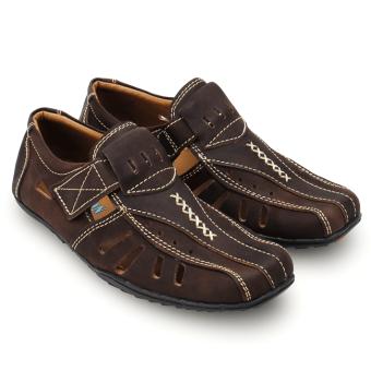 Giày rọ nam da bò thật MB102 (Nâu)