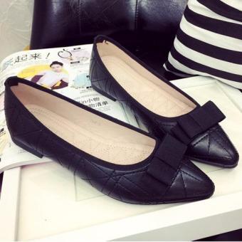 Giày búp bê thiết kế đơn giản cho bạn gái thêm tinh tế-145 (Đen)