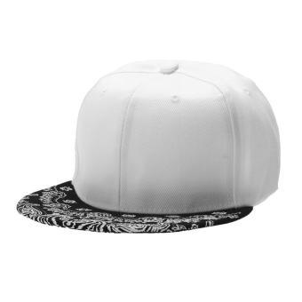 WomenPaiey Hiphop Hat napBagck Adjutabe BageBag Cap (White)