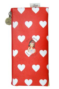 Túi đựng bút Fascy Makeup Tina (Đỏ)