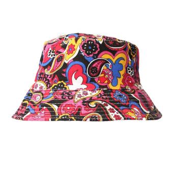 Floral Sun Hat Black+Pink - Intl