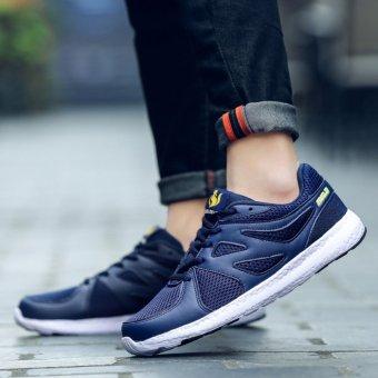 Jarma man's net breathable sneaker fashion new style walking shoes (Blue) - intl